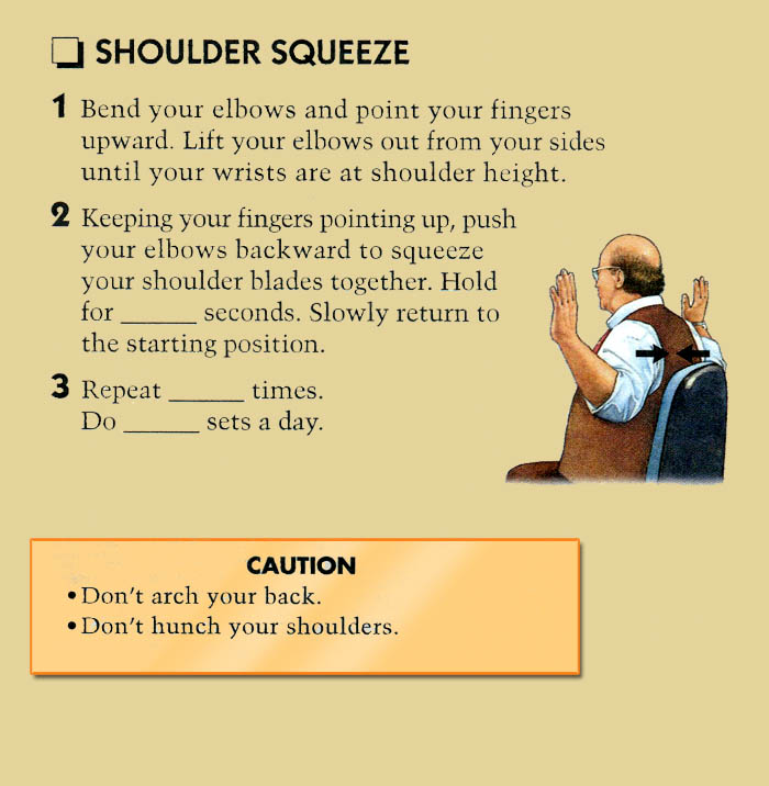 Neck-exercises-Shoulder Squeeze